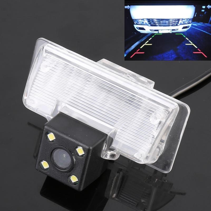 720x540 effectieve Pixel HD waterdichte 4 LED nachtzicht groothoek auto achterzijde weergave back-up camera voor Nissan