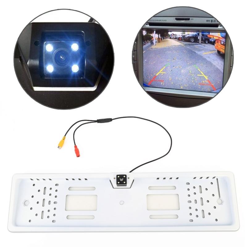 JX-9488 720x540 effectieve pixel NTSC 60HZ CMOS II universele waterdichte auto achteruitkijk Achteruitrij camera met 2W 80LM 5000K wit licht 4LED lamp DC 12V draadlengte: 4m (wit)