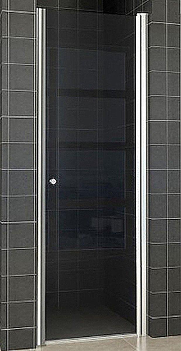 Wiesbaden Smoke nisdeur 90 x 202 cm met profiel, 8 mm Nano-rookglas