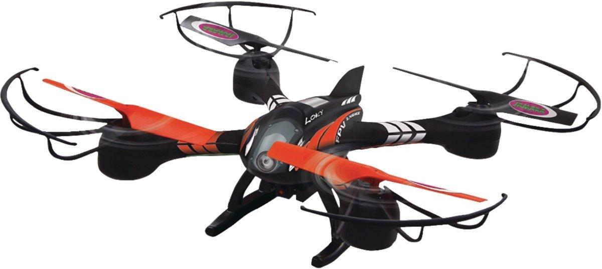 R/C-Drone Loky 4+4-Kanaals RTF / Foto / Video / Met Verlichting / 360 Draaibaar / FPV 2.4 GHz Control Zwart