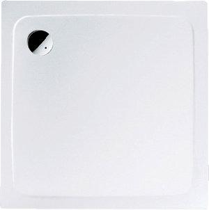 Kaldewei Superplan douchebak, plaatstaalaal, wit, (lxbxh) 900x900x25mm vierkant