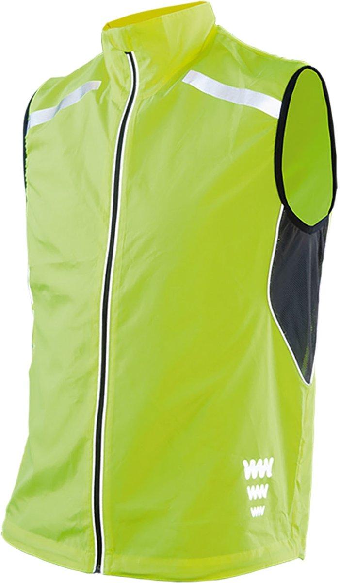 Wowow Dark Reflectievest 5.0 Fietsjas - Maat XL  - Vrouwen - geel/zwart/zilver