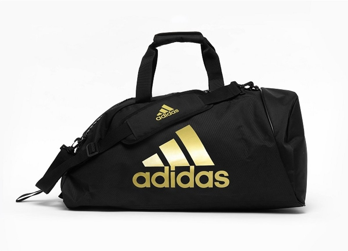 adidas training sporttas 2-in-1 zwart/goud 59 liter