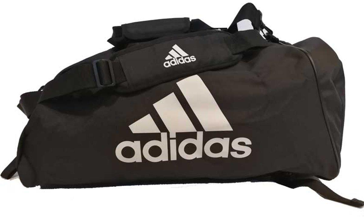 adidas training sporttas 2-in-1 zwart/wit 59 liter