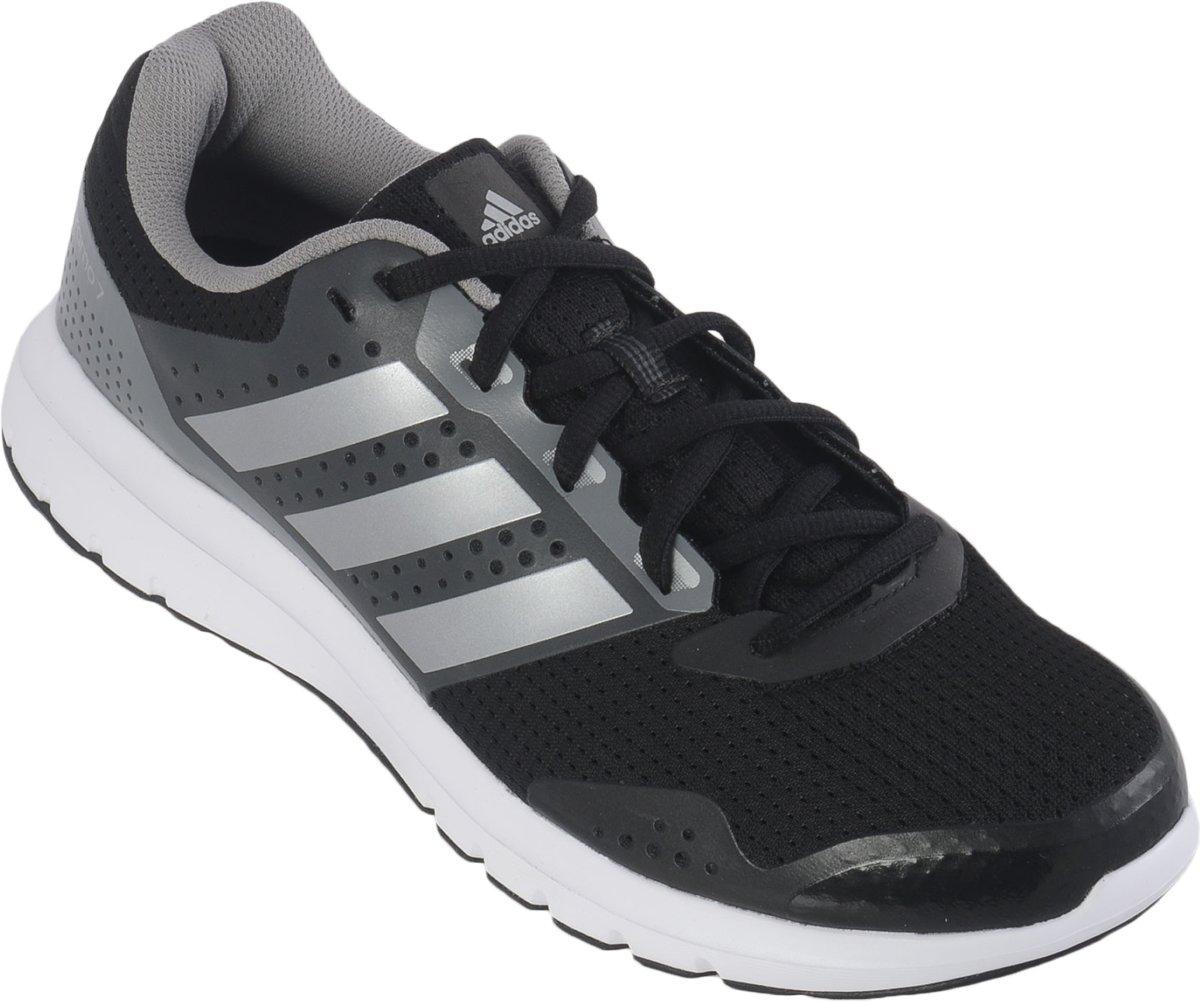 adidas Duramo 7 - Hardloopschoenen - Mannen - Maat 46 2/3 - Zwart/Grijs/Zilver