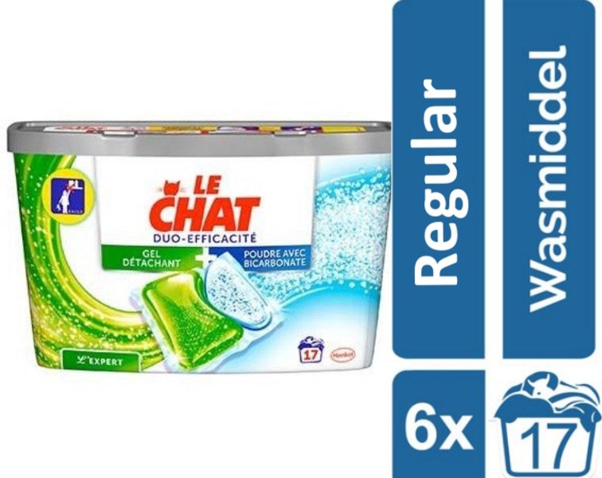 Le Chat Sensitive Duo-Caps - Kwartaalverpakking - 102 wasbeurten - wasmiddel