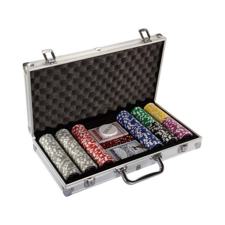 Miadomodo Pokerset - Pokerkoffer Met Poker Fiches - Poker - Pokerset 300 Chips - Zilver