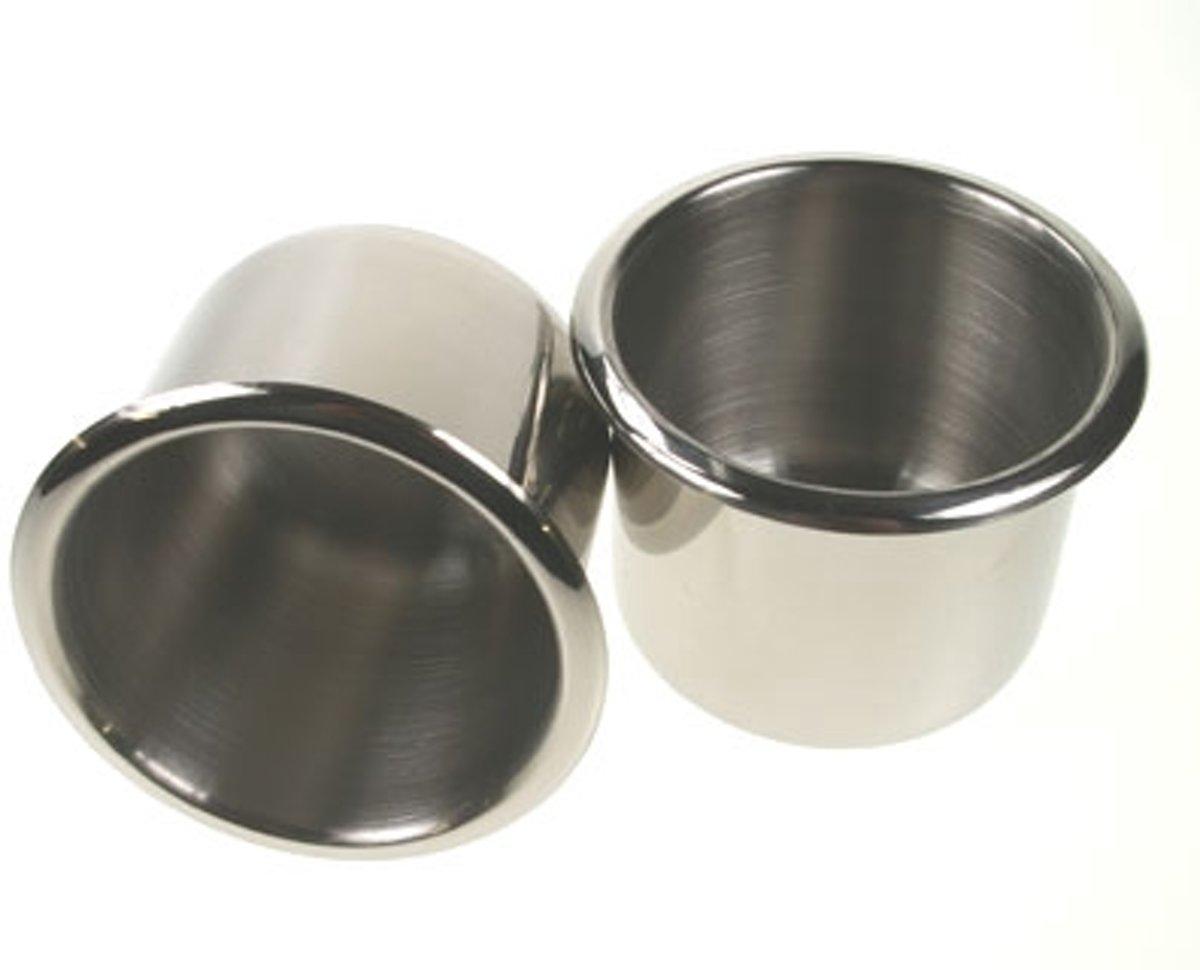 Verschroomde cupholders voor pokertafels (set 10 stuks)