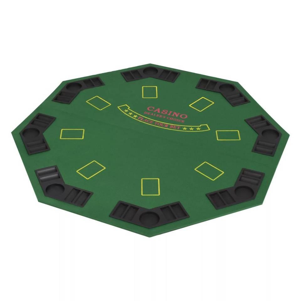 vidaXL Poker tafelblad voor 8 spelers 2-voudig inklapbaar groen