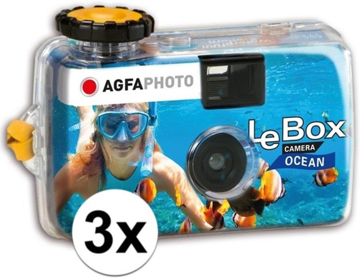 3x Wegwerp onderwater cameras voor 27 kleuren fotos  - Vakantiefotos weggooi cameras - Duiken/zwemmen