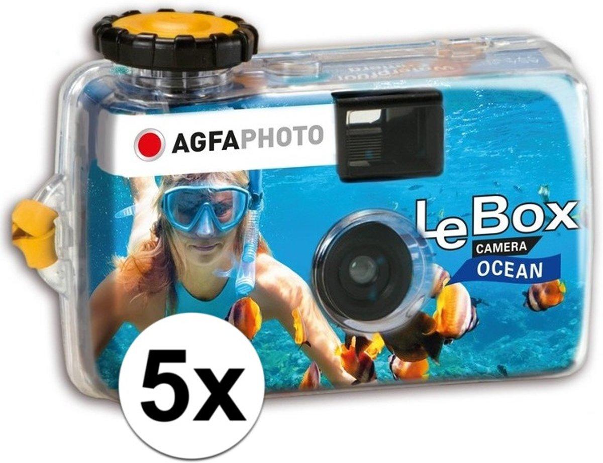 5x Wegwerp onderwater cameras voor 27 kleuren fotos  - Vakantiefotos weggooi cameras - Duiken/zwemmen
