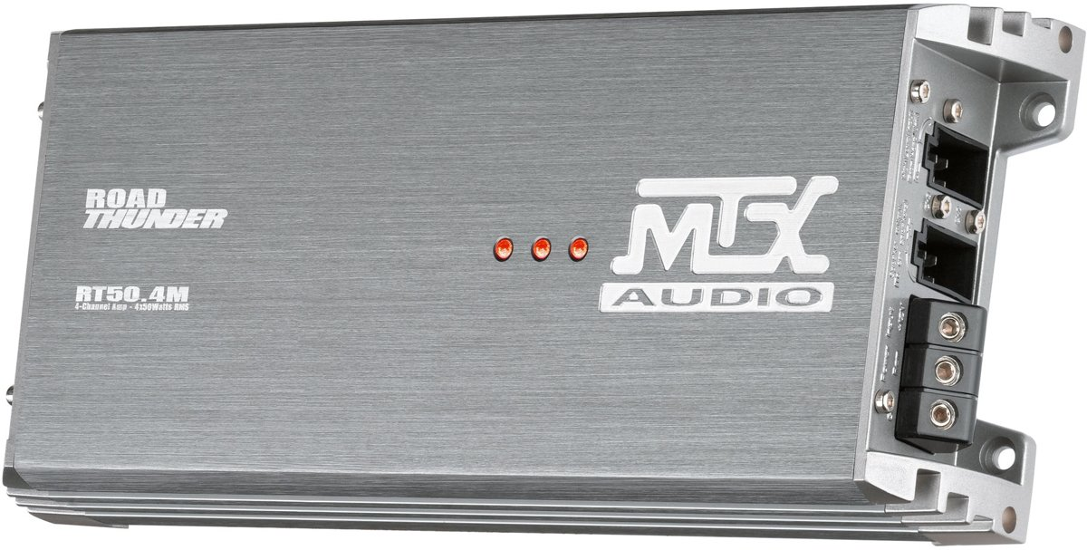 MTX Audio RT50.4M - 4x 50 Watt - 4-kanaals auto versterker