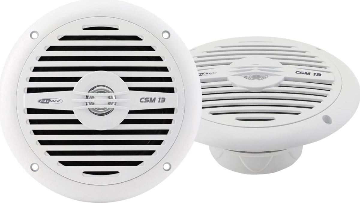 Caliber CSM13 - Marine speaker -  13cm  - Spatwaterdicht -  Wit