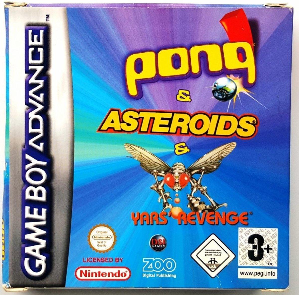 Pong / Asteroids / Yars' Revenge