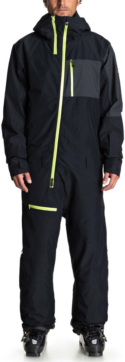 Quiksilver Corbett Skipak - Maat M  - Mannen - zwart/ lime groen