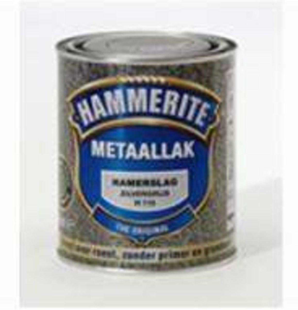 Hammerite Metaallak Hamerslag Zilvergrijs H115 - 250 ml