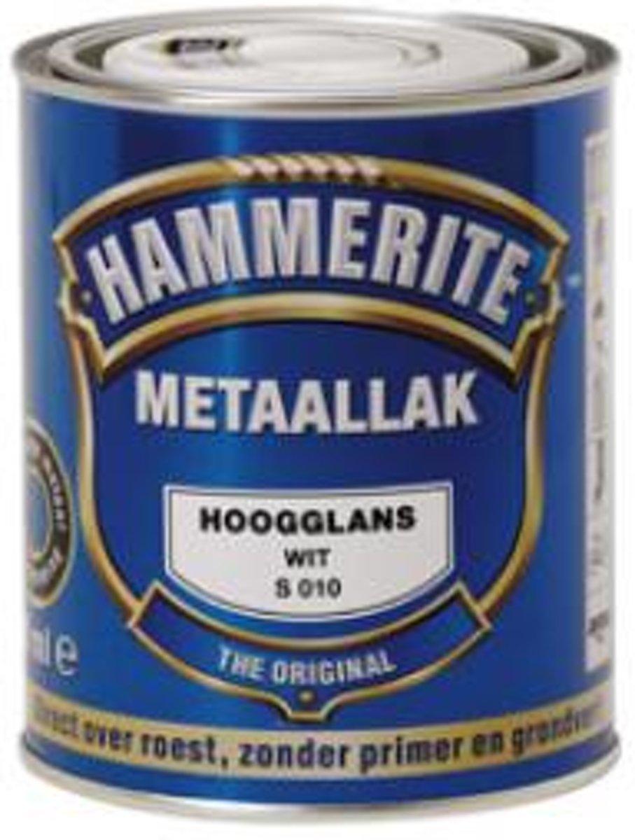 Hammerite Metaallak Hoogglans Wit S010 - 750 ml