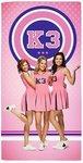 Studio 100 badlaken K3 meisjes roze 75 x 150 cm