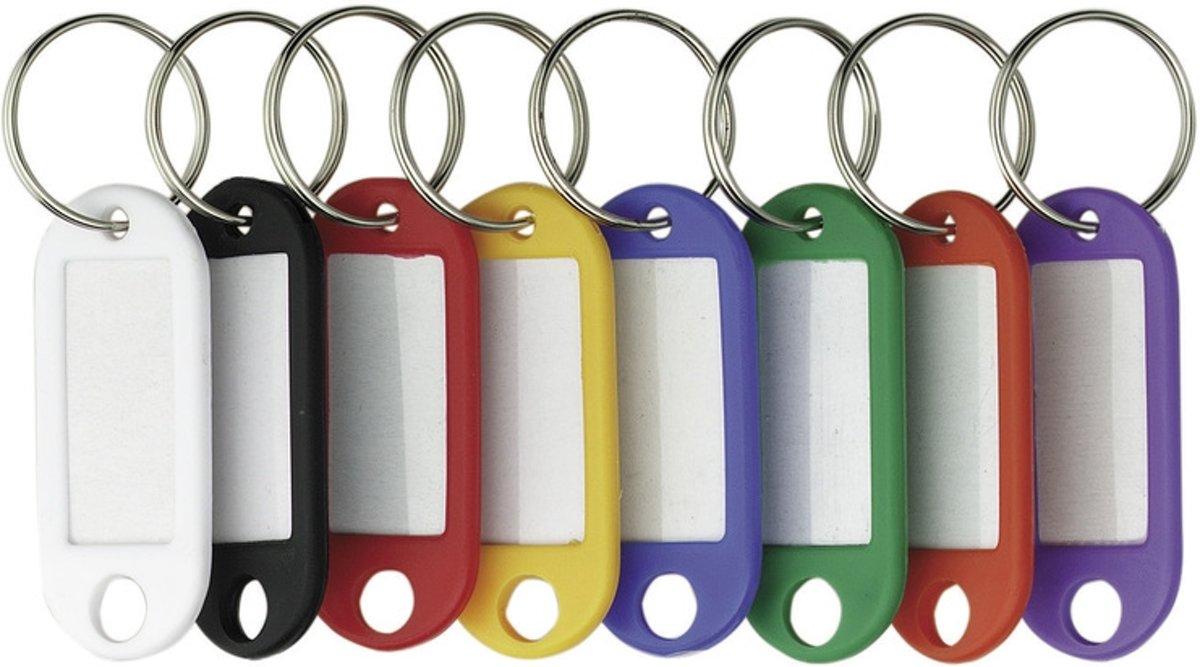 sleutelhanger Alco verwisselbaar etiket assorti kleuren 4 stuks