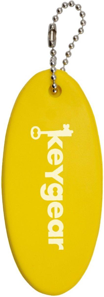 KeyGear sleutelhanger drijfboot 10 cm geel