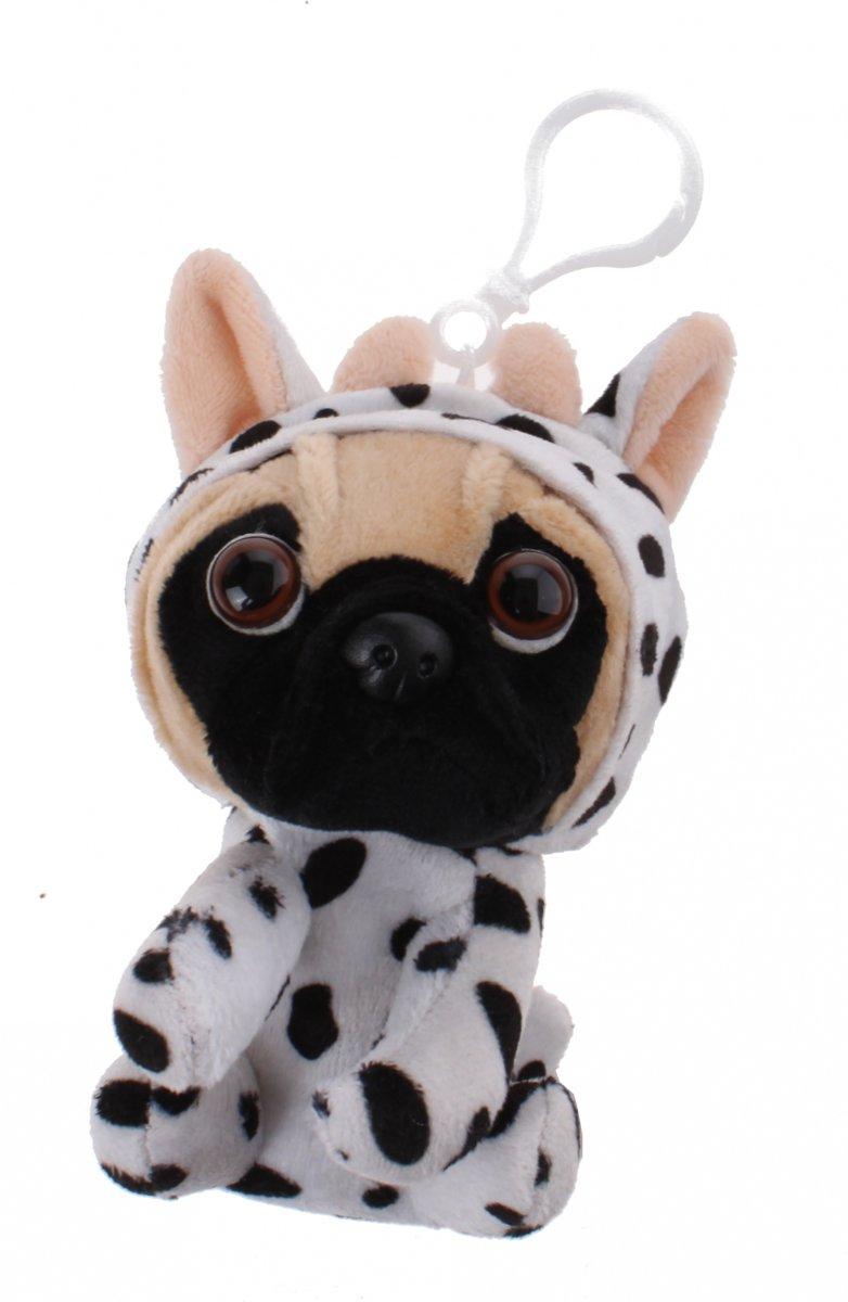 Kamparo sleutelhanger Pugs and Kisses dalmati?r 11 cm wit/zwart