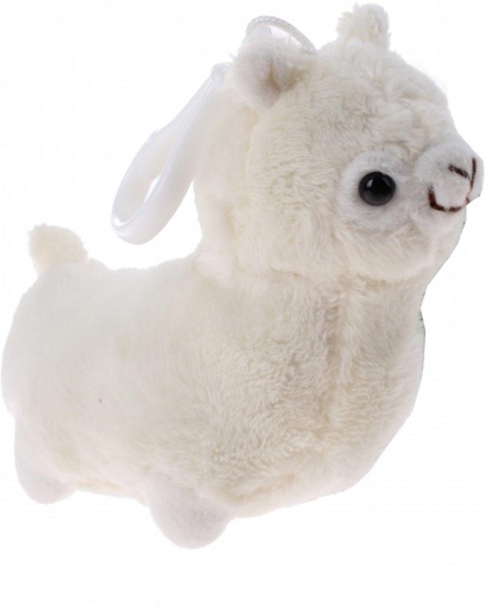 Kamparo pluchen sleutelhanger Alpaca 10 cm junior wit