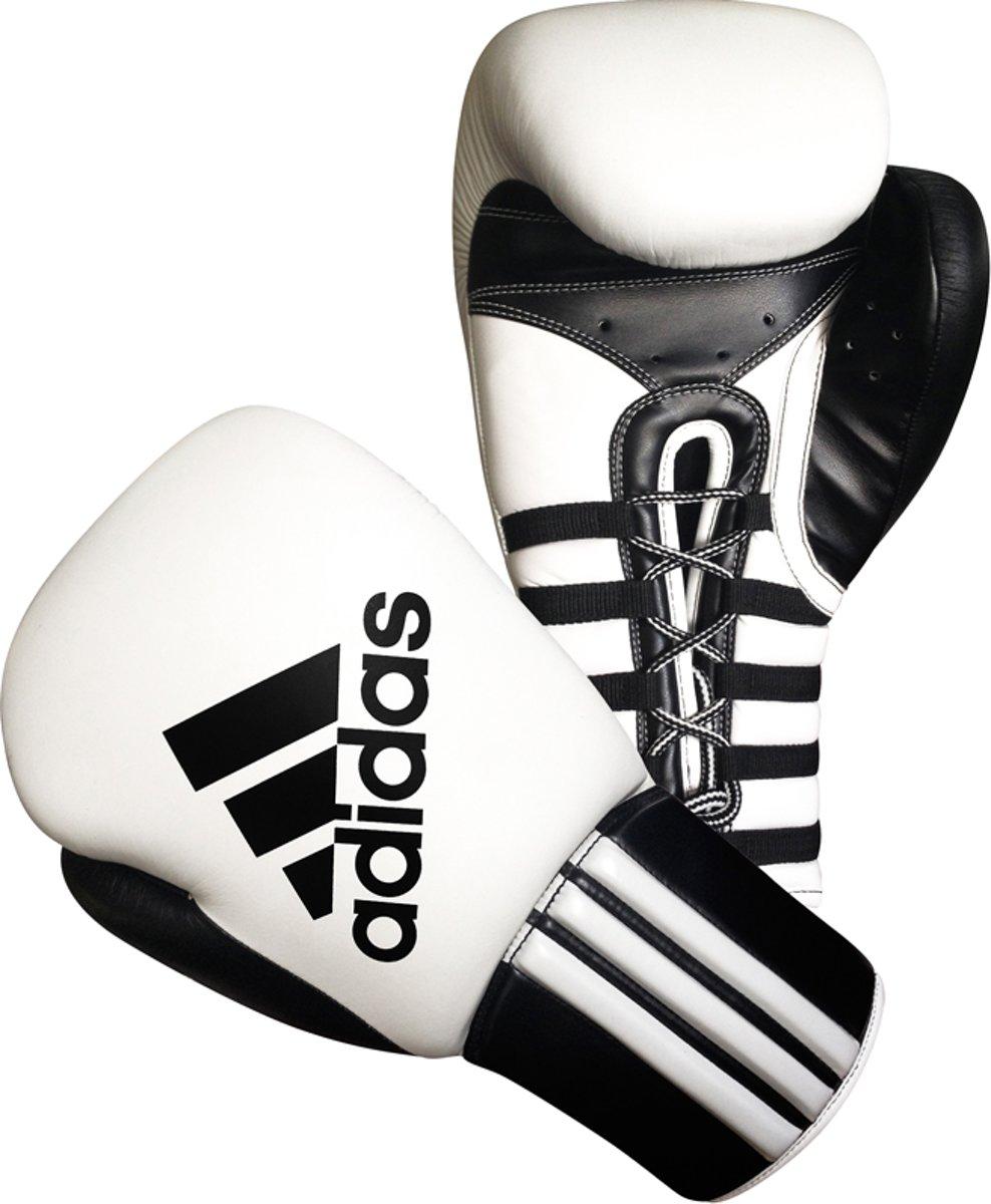 Adidas Safety Sparring Bokshandschoenen Veter Zwart-Rood - 14 oz
