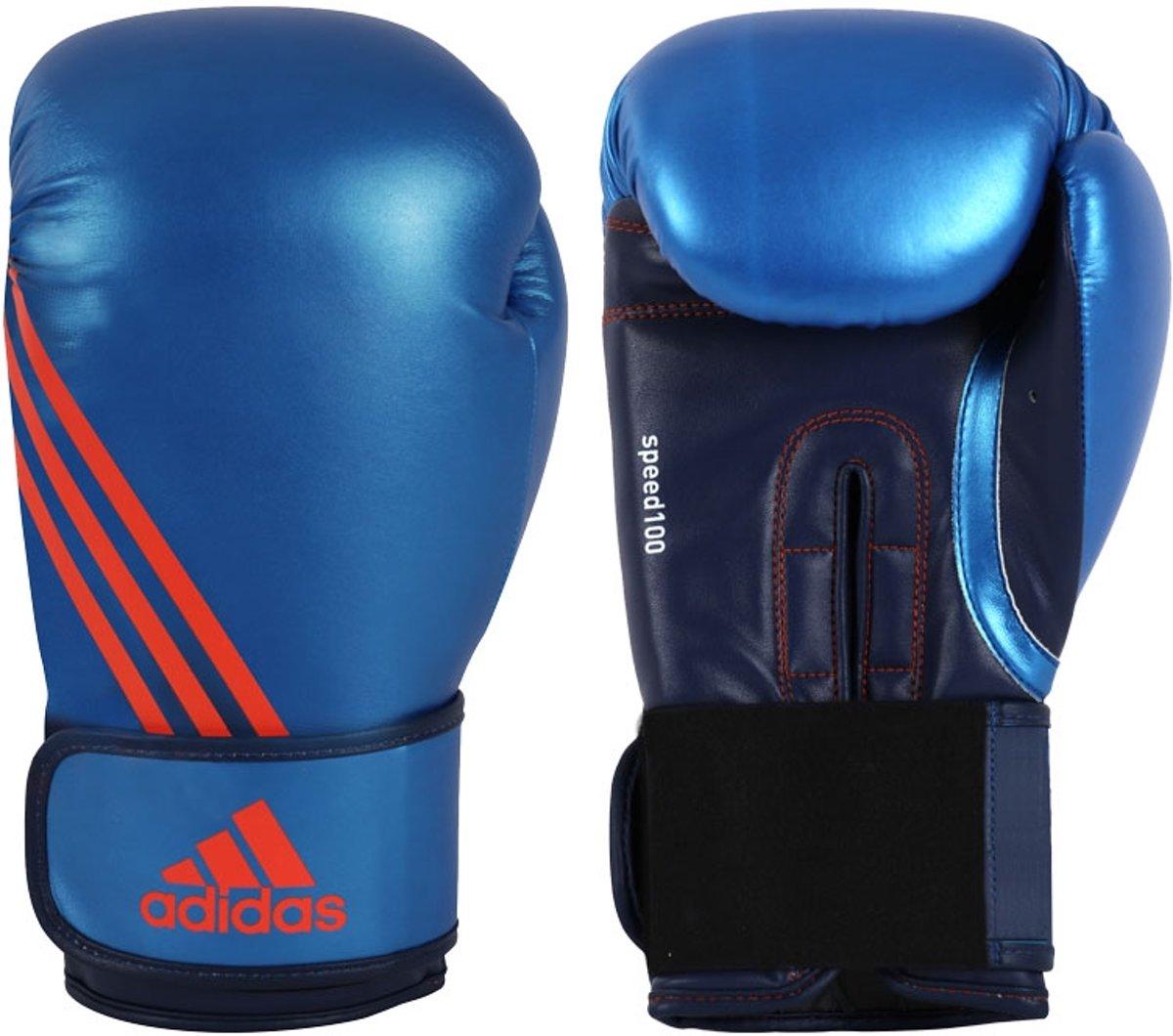 Adidas Speed 100 (Kick)Bokshandschoenen Blauw - 6 oz