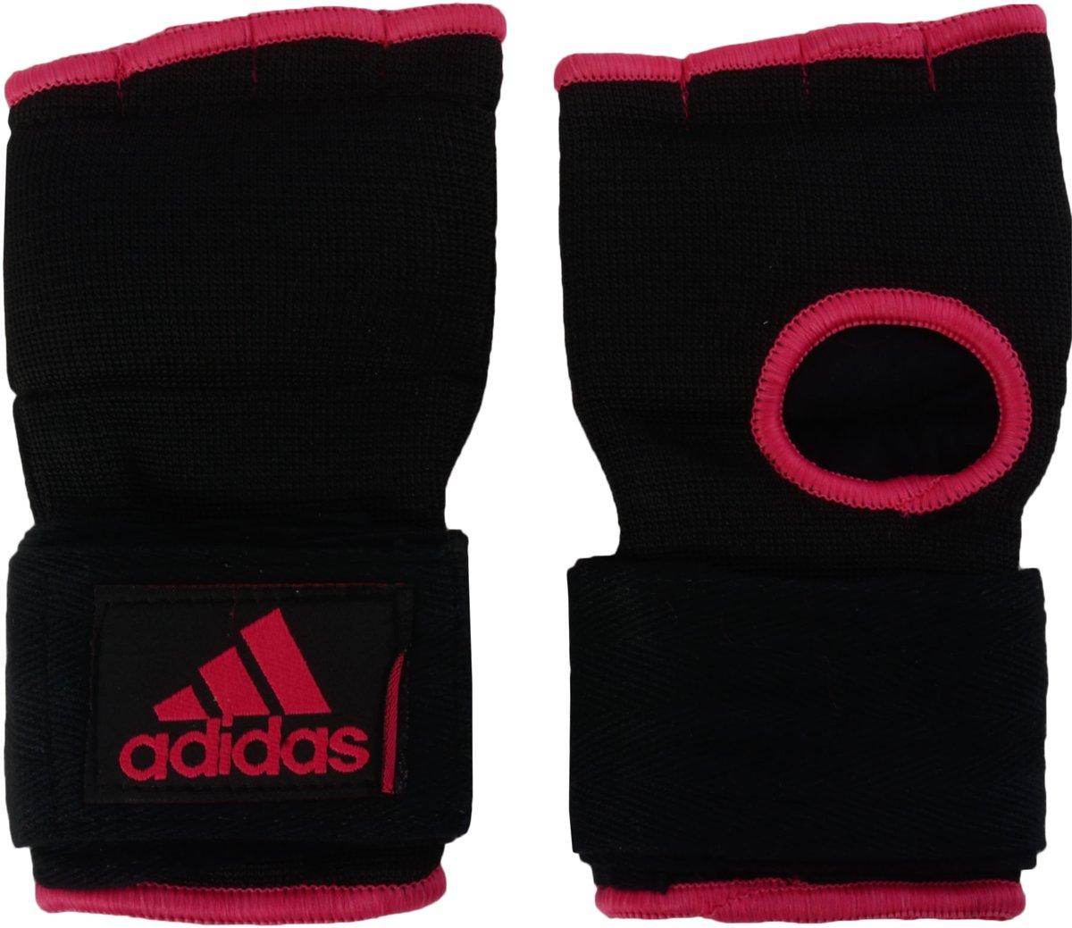 Adidas Gevoerde Binnenhandschoenen Met Bandage Zwart-Roze - M