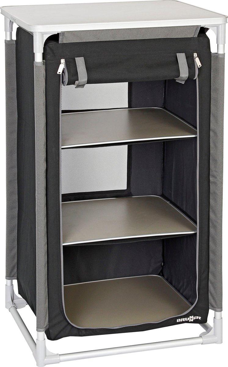 Brunner Jum-Box LS Azabache campingkast grijs/zwart