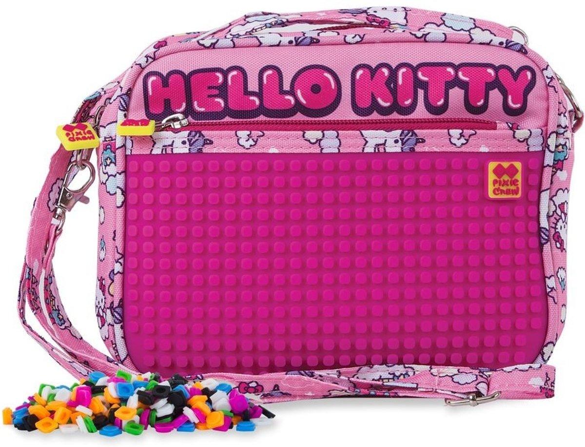 Pixie Crew handtas met siliconenpaneel Hello Kitty 2 liter roze