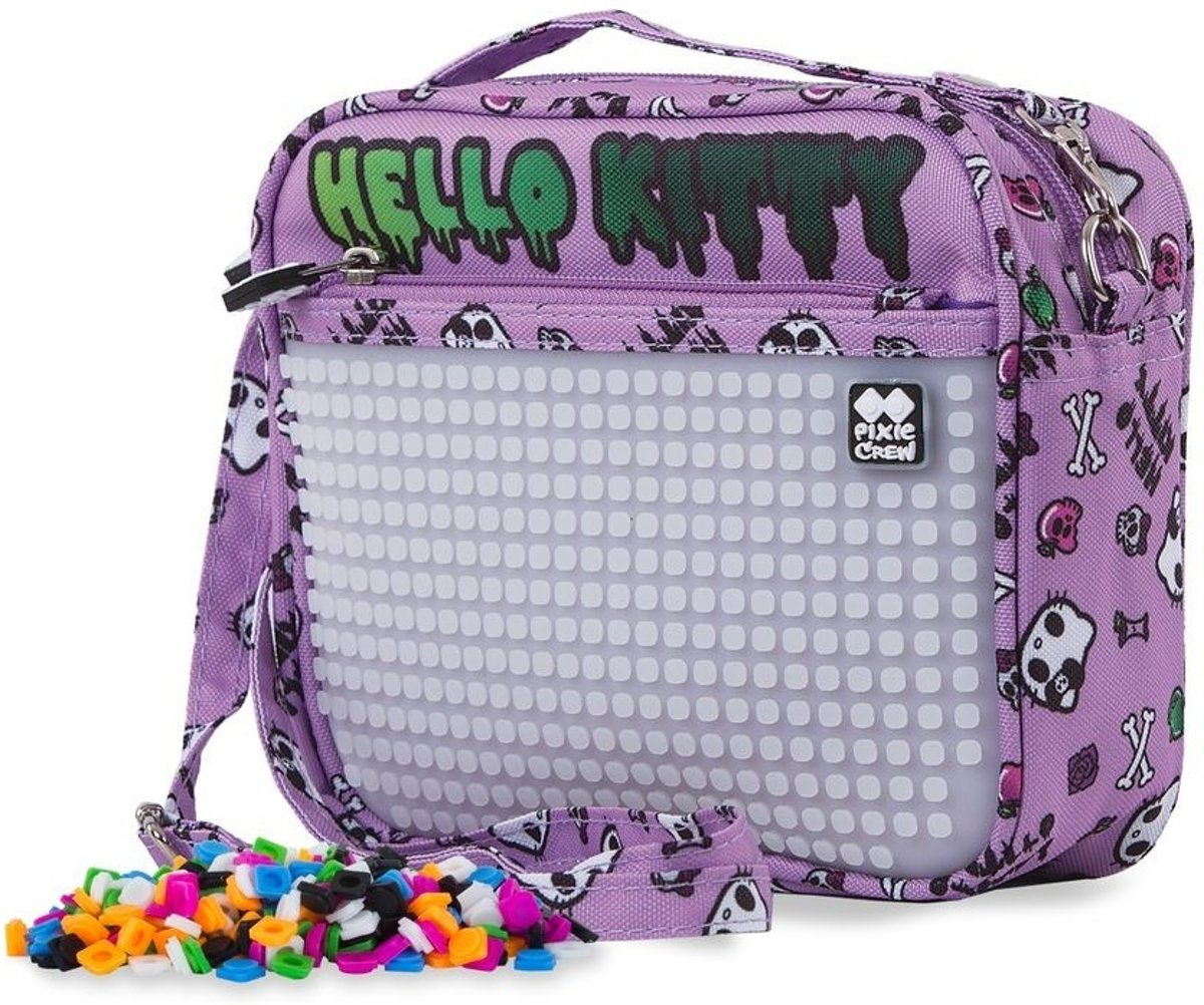 Pixie Crew handtas met siliconenpaneel Hello Kitty 2 liter paars