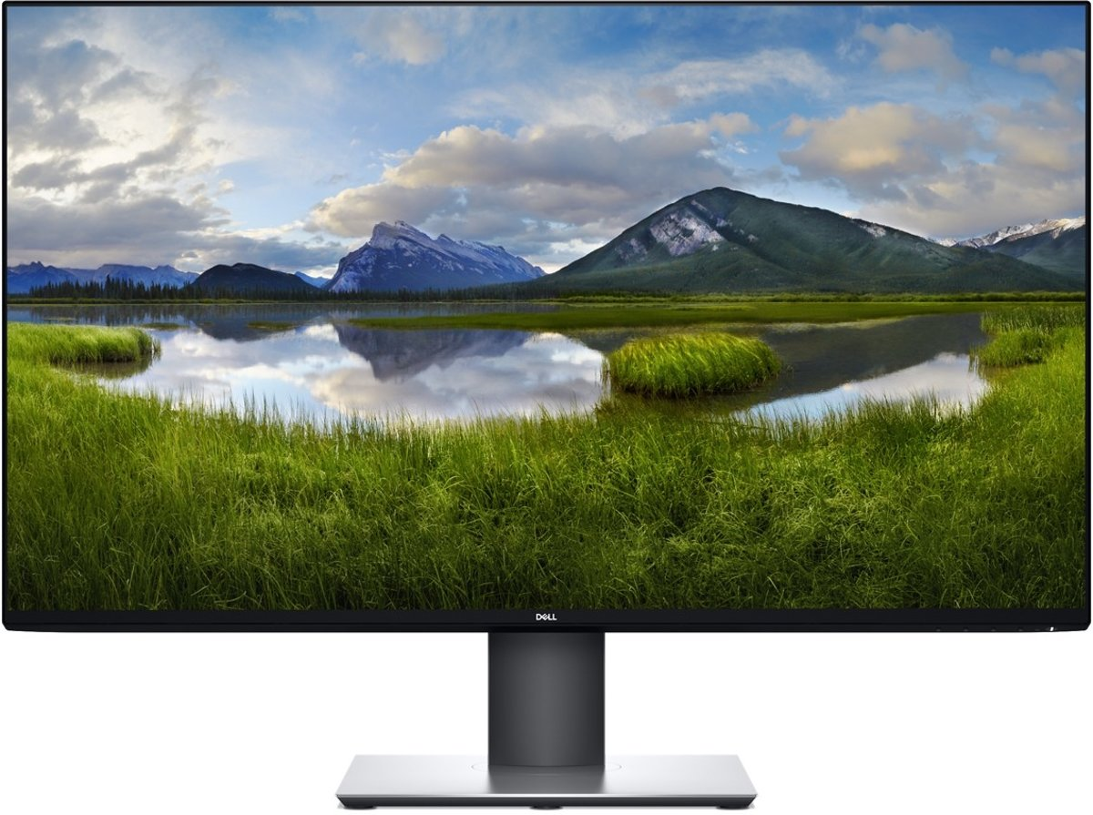 DELL UltraSharp U3219Q LED display 81,3 cm (32'') 3840 x 2160 Pixels 4K Ultra HD LCD Flat Mat Zwart, Grijs