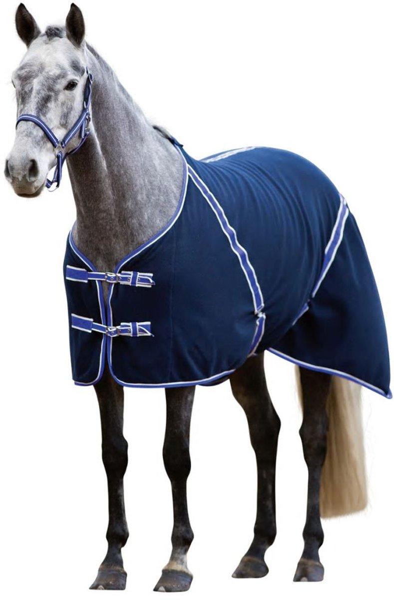 Kerbl Paardendeken Classis - Zwart/blauw - 125 cm