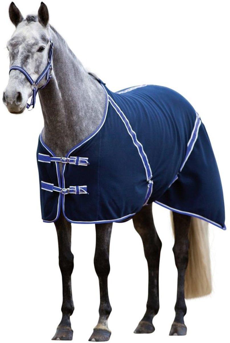 Kerbl Paardendeken Classis - Zwart/blauw - 135 cm