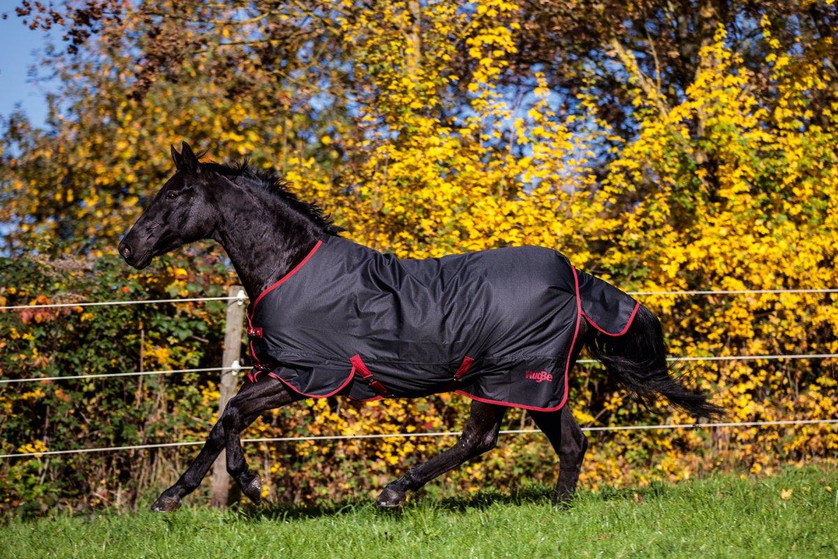 Kerbl Paardendeken Outdoor RugBe Zero 1 - Zwart/rood - 140 cm