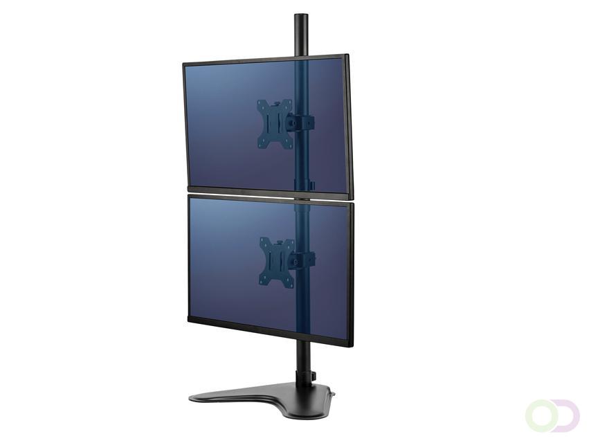 Fellowes Monitorarm - Tweevoudig - Verticaal -  8044001 flat panel bureau steun 81,3 cm (32'') Vrijstaand Zwart