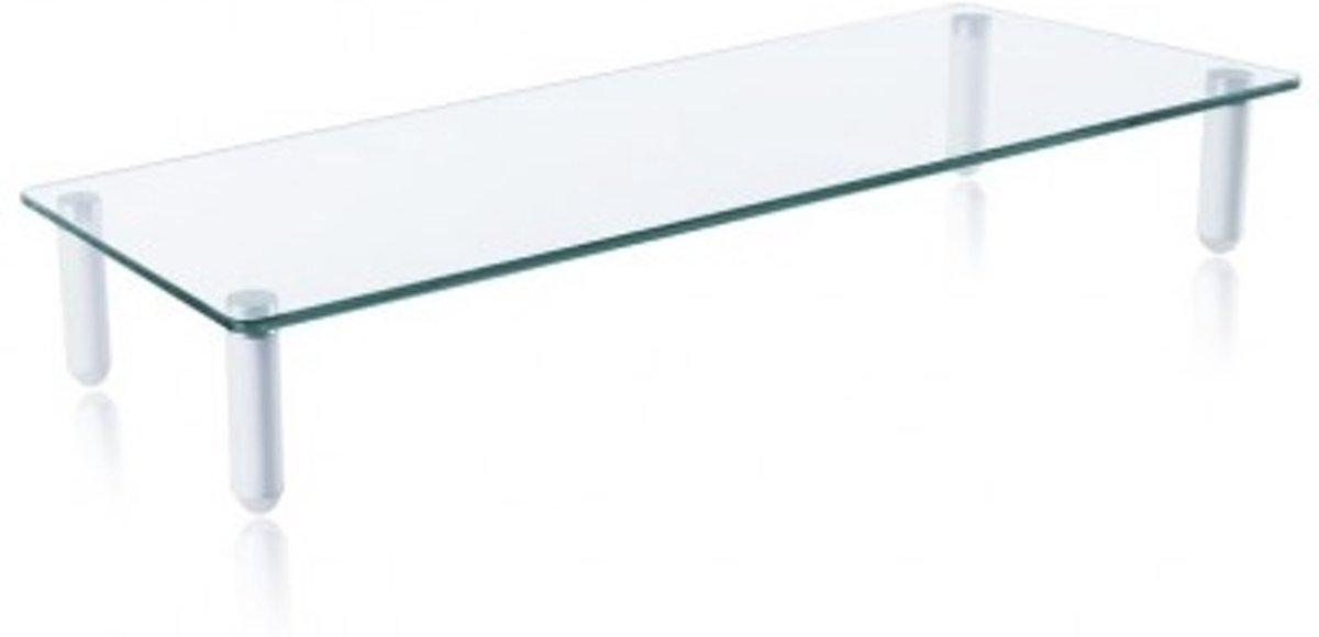Techly ICA-MS 461 flat panel bureau steun 81,3 cm (32'') Vrijstaand Transparant, Wit