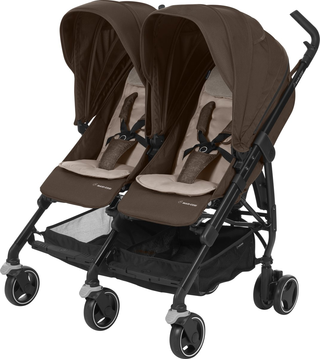 Maxi Cosi Dana For2 - Duo buggy - Nomad Brown (Black Frame)