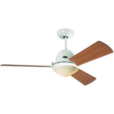 Plafondventilator CasaFan Plafondventilator Libeccio wit (??) 142 cm met afstandsbediening, met lamparmatuur, met winterm