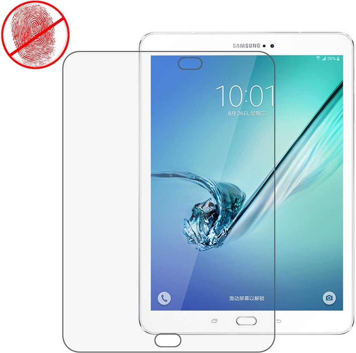 Samsung Galaxy Tab S2 9.7 - S2 9.7 VE ANTI-GLARE Screenprotector Bescherm-Folie