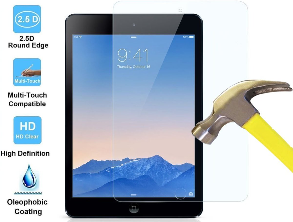 Apple iPad 3 - Tempered Glass Screenprotector Transparant 2,5D 9H (Gehard Glas Screen Protector - 0.3mm)