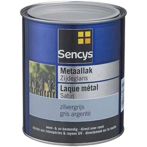 Sencys metaalverf zijdeglans zilvergrijs 250ml
