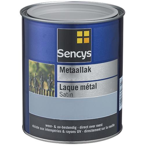 Sencys metaalverf hoogglans zwart 750ml