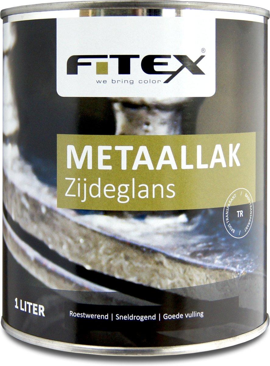 Fitex-Metaallak-Zijdeglans-Ral 7021 Zwartgrijs-1 liter