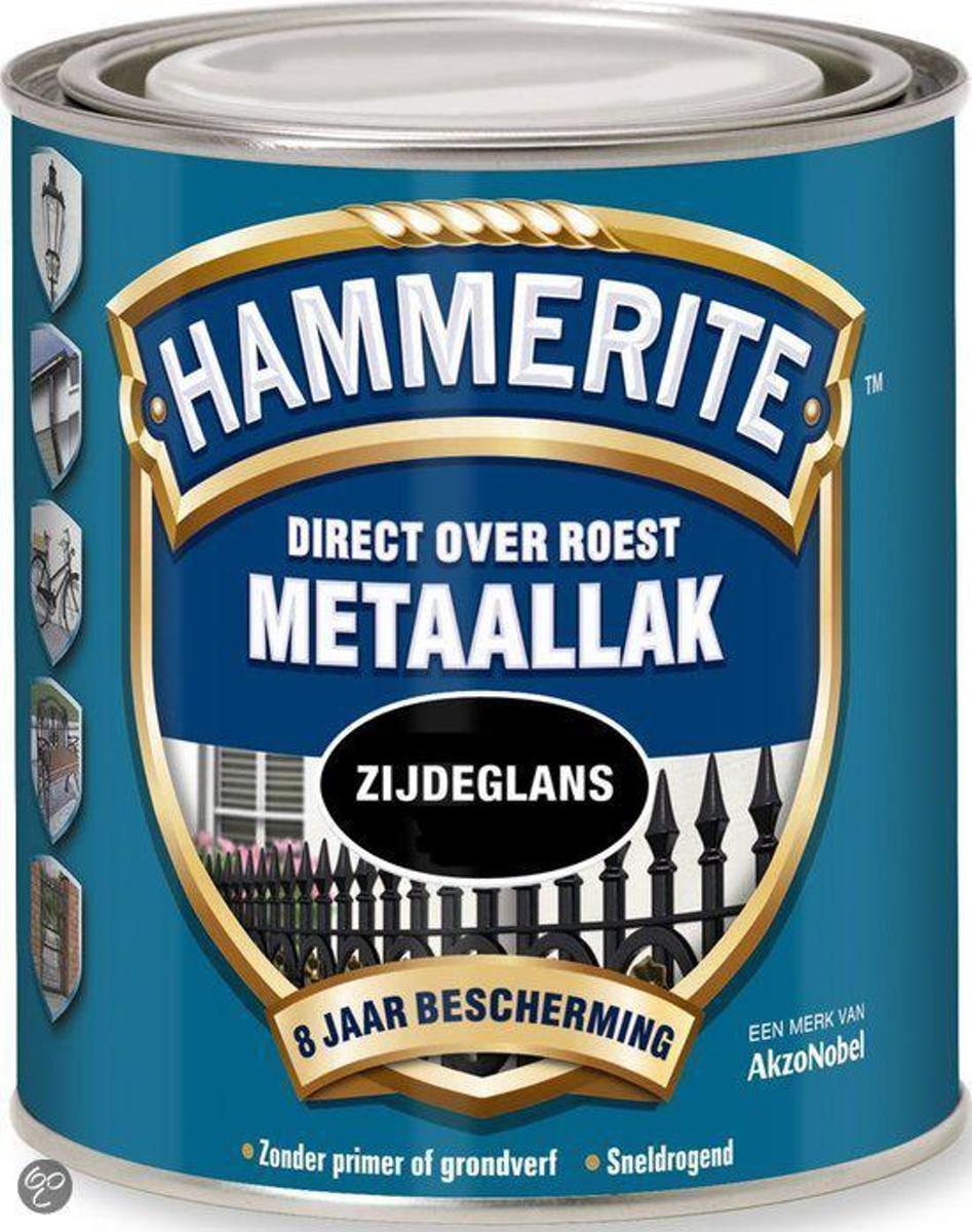 Hammerite Metaallak Zijdeglans Grijs 0,75L