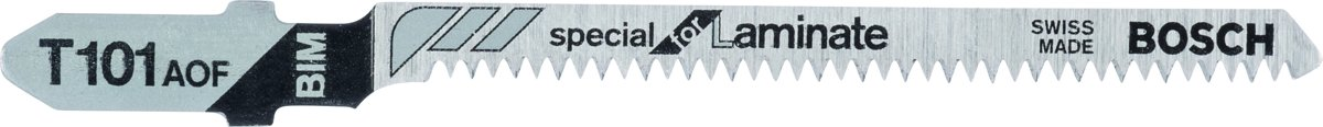 Decoupeerzaagblad T 101 AOF, Special for Laminate Bosch Accessories 2608636432 3 stuks