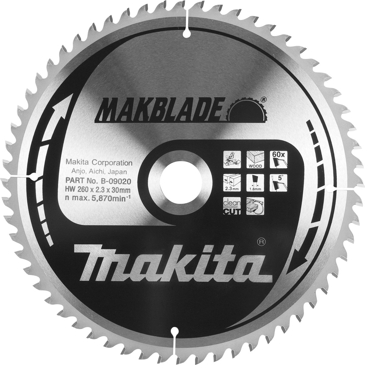 Makita Cirkelzaagblad 260X30X2,3 60T 5G
