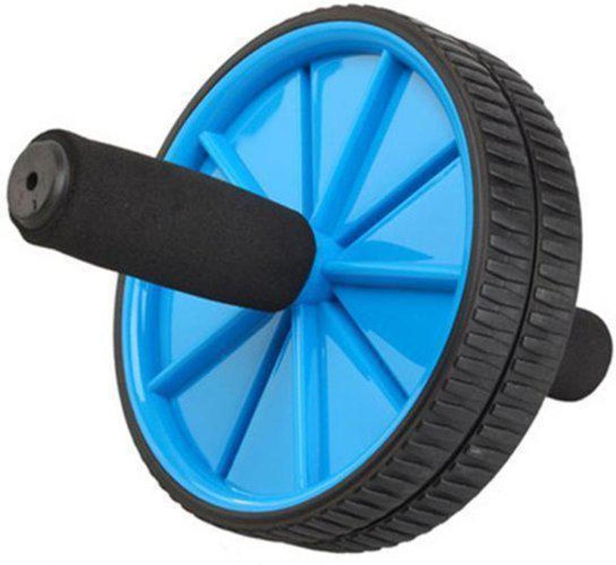 Trenas -  Double Ab Roller - Core Trainer - Core Wheel - Buikspiertrainer met dubbel wiel - Buikspier Wiel - Ø 18.5 cm - Blauw