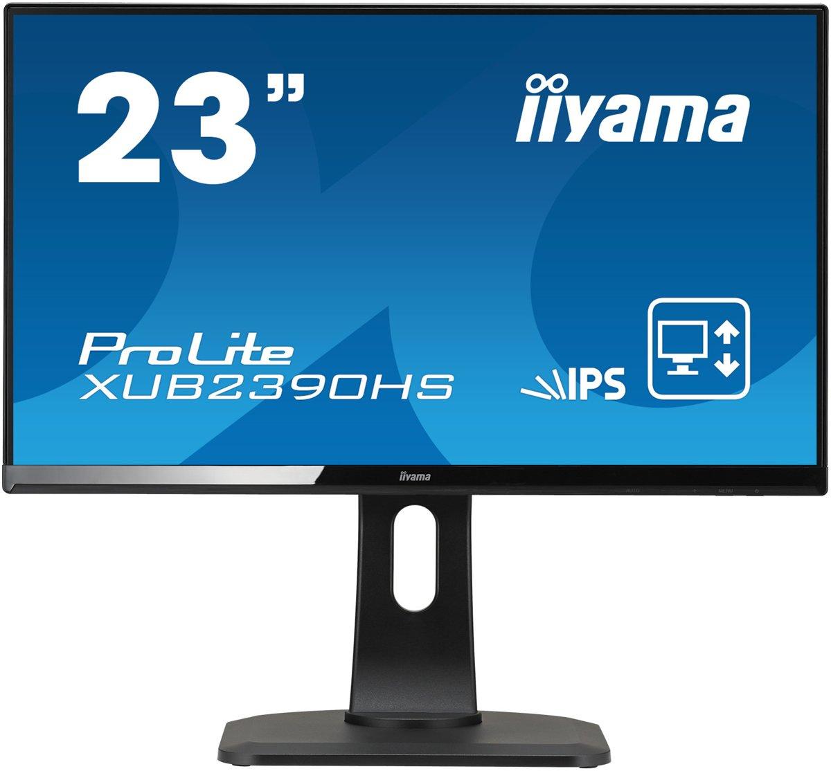 Iiyama XUB2390HS-B1 LED-monitor 58.4 cm (23 inch) Energielabel A 1920 x 1080 pix 16:9 5 ms DVI, HDMI, VGA AH-IPS LED